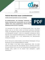 Patrick Wawricka neuer Landesobmann