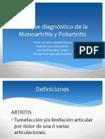 Enfoque diagnóstico de la Monoartritis y Poliartritis