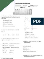 Avaliação de Matemática - 3º B - 9º ano