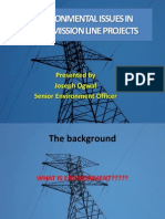 Environmental Issues in Transmission Lines