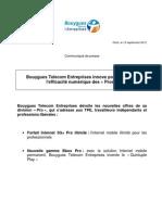 Bouygues Telecom Entreprises innove pour renforcer l'efficacité numérique des « Pros »