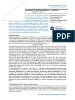 2012 - Corporate Government Strategy Development - A Case Study