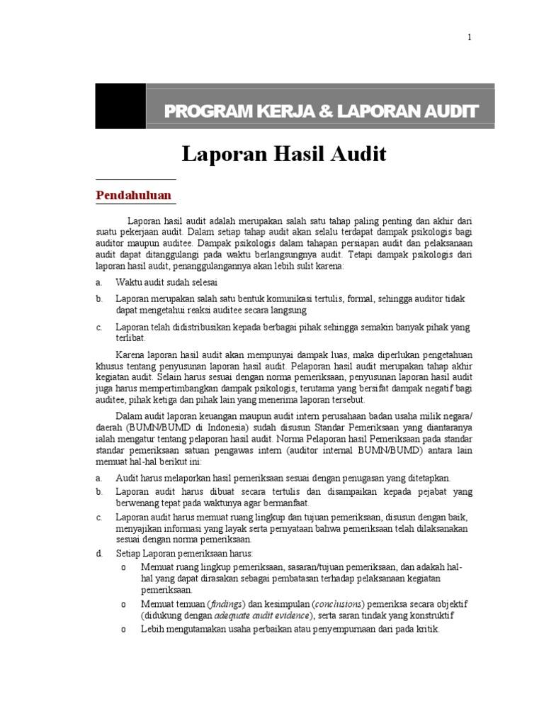 10 Materi Laporan Hasil Audit
