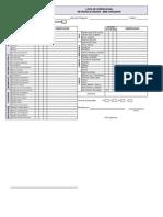 Check List Mini Cargador Retroexcavadora