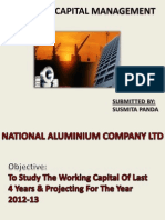 Wotrking Capital Management of NALCO by Susmita Panda(ITM-Institute Of Financial Markets)