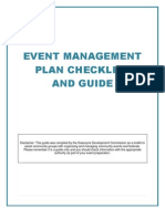 Event Management Plan - GDC Toolkit