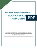 Event Management Plan - GDC Toolkit