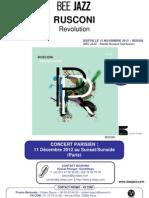 "Communiqué de presse de "" Revulution "" de RUSCONI (BEE056)"