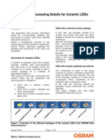Handling and Processing Information for Ceramic LEDs[1]