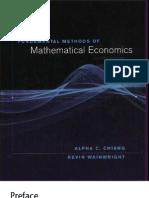 Alpha Chiang Mathematical Economics Pdf