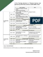 Progrmme Schedule IETE Seminar
