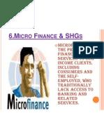 Micro Finance & Shgs