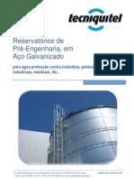 Reservatórios de Pré-Engenharia em Aço Galvanizado - TECNIQUITEL