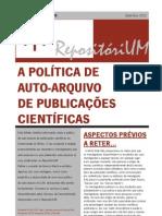 A política de Auto-Arquivo de Publicações Científicas