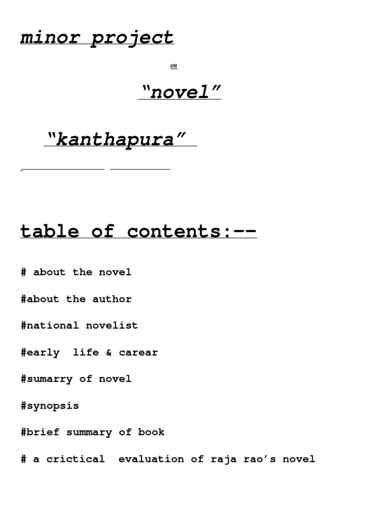 plot structure of kanthapura