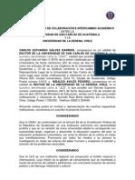 CONVENIO MARCO DE COLABORACION E INTERCAMBIO ACADEMICO ENTRE LA USAC Y LA UNIVERSIDAD DE LA SERENA , CHILE.