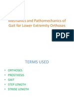 Mechanics and Pathomechanics of Gait for Lower Extremity