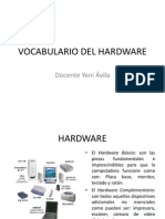 Vocabulario Del Hardware. Yeni Avila