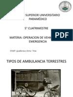 Tipos de Ambulancia Terrestres