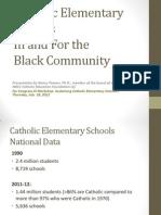NBCC Congress XI Presentation Black Catholic Schools