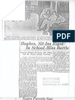 Hughes, Sit-Ins Rigid in School Bias Battle, Bergen Record Article February 1963