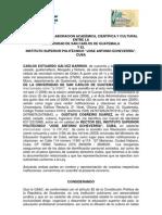 """CONVENIO DE COLABORACION ACADEMICA, CIENTIFICA Y CULTURAL ENTRE LA USAC Y EL INSTITUTO SUPERIOR POLITECNICO """"JOSE ANTORIO ECHEVERRIA"""", CUBA"""