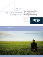 An Analysis of the Geography of Entrepreneurship
