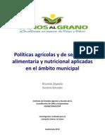 Políticas agrícolas y de SAN Guatemala 2010