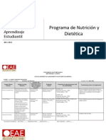 Annual Report of Assessment of Student Learning (2011-2012) - Nutrition & Dietetics