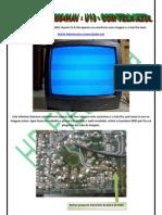 Televisor Semp Modelo TV2084HAV Chassis U13 Com Tela Azul.