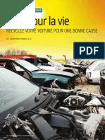 Auto pour la vie - Recyclez votre voiture pour une bonne cause