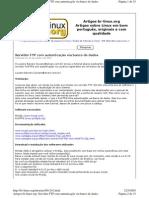 Servidor FTP com autenticação via banco de dados