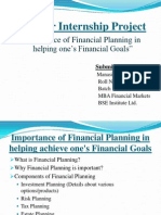 Research Report Financial Planning