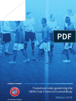 UEFA Procedural Rules Club Financial Control Body 2012