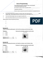 Linear Programming Notes