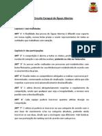 Regulamento - Circuito Caraguá de Águas Abertas