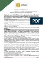 Edital Prova de Insuficiencia 2012