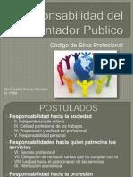 11396 Presentacion de Responsabilidad Del Contador CODIGO de ETICA