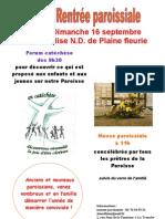 affiche rentrée paroissiale 2012