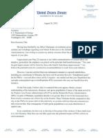 Letter to Chu -- Senator Max Baucus -- 8-28-2012