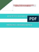 Trabajos Libres Medicina Transfusional 2011