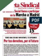 Gaceta Sindical (Edicion Especial n 114) La Cumbre Social Llama a Participar en La Marcha a Madrid