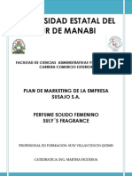Plan de Marketing Perfume