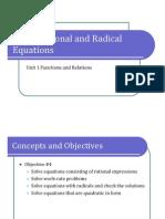 Obj. 4 Rational and Radical Equations (Presentation)