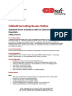 Autodesk Storm & Sanitary Analysis Extension (SSA) Essentials