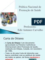 Politica nacional de promoção de saúde