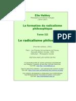 Élie Halévy, La Formation du radicalisme philosophique.Tome III