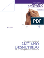 Manual de Atencion Al Anciano Desnutrido - Nivel Primario de Salud