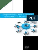 Configuración de VPN Site To Site entre Firewall ASA 5510 y router  2811