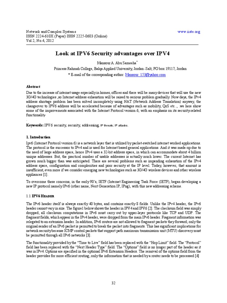 what are the advantages of ipv6 over ipv4